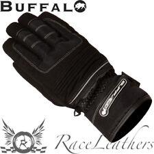 Buffalo Trail Noir Argent TEXTILE Imperméable Motocyclette Moto Vélo gants