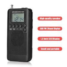 Mini Portable AM/FM Stereo Radio Receiver LCD Digital Tuning w/Earphone B8K3