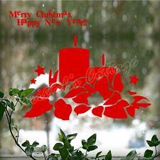 Buon Natale Candela Stelle Mostra finestra Wall Art Decorazione Adesivo 20 Colori