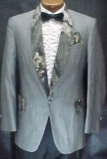 Gray Camouflage Camo Vintage Prom Tuxedo Smoking Jacket Mens Sizes 35 - 60