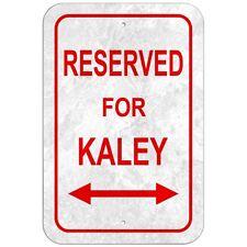 "Reserved For Parking 8"" x 12"" Plastic Sign Names Female Ka-Kar"