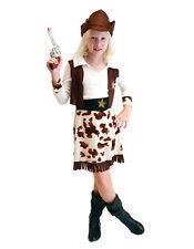 Filles enfants western cowgirl enfant jessie costume jouet déguisement 4-6 & 7-9YRS