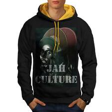 Jah Marley Music Rasta Men Contrast Hoodie NEW | Wellcoda