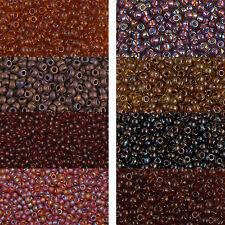 Miyuki rocaille 8/0 environ 3 mm TOPAZ, marron, cognac environ 9,9 g