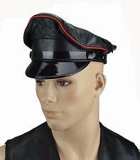 Aw0055 Offerta Biker Berretto Visiera, CAPPUCCIO CAPPELLO, berretto ufficiale, Leather Muir CAP
