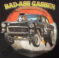 T-Shirt 738 BAD-ASS GASSER V8 HotRod Old School Musclecar Dragster DRAGRACING