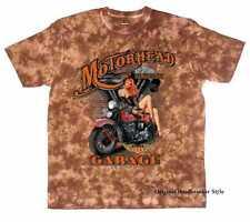 T Shirt Batik brown Vintage HD Biker Chopper&Old Schoolmotiv Modell Motorhead