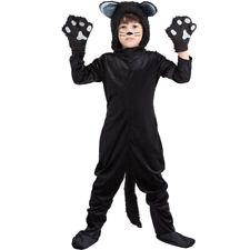 Black Kitty cat Childrens fancy Dress Costume age 4-11