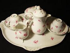 Meissen Porcelain Tete-a-Tete Tea Set 8 Pieces c.1850-1924 Christies Label