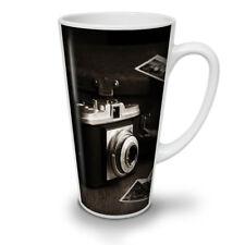Cámara de fotos viejas Nuevo Blanco Té Café Taza de café con leche 12 17 OZ (approx. 481.93 g) | wellcoda