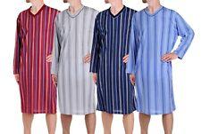 Hombre Camisón Manga Larga Pijama Vestido dormir Ropa De Dormir Algodón L - XXXL