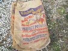 Vtg Kitchen Magic Perfect Potatoe Red River Hoople No Dakota $35.00 each sack