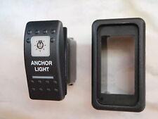 ANCHOR LIGHT SWITCH VMS PANEL  V1D1 BLACK CARLING CONTURA II 2 WHITE LIGHTED