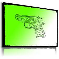 Pistolet Toile Wall Art Abstrait Photo GRANDES TAILLES! 22! Prêt à Accrocher