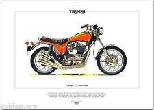 TRIUMPH X75 HURRICANE - Motorcycle Art Print - Factory custom bike 750cc triple