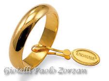 Fede Matrimoniale unoaerre classica 6 grammi in oro giallo  Mod.60 AFN 1 col.01