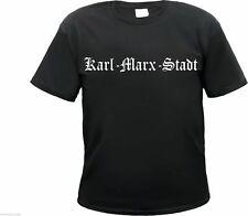 KARL-MARX-STADT T-Shirt - Altdeutsch - Schwarz/Weiss - ultras fans chemnitz hemd