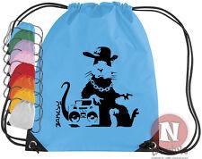 banksy Gangster rat KIT DE SPORTS sac. Cordon EPS école livres équipement