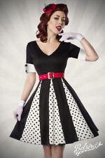 Godet-Kleid Rockabilly 50er Vintage-Kleid Retro Party-Kleid