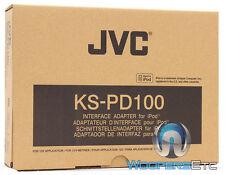 jvc ks-pd100 ipod adapter stecker für ausgewählte 2003 und jvc up stereo cd player neu