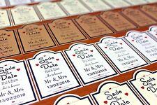 10-50 Tarjetas Personalizadas Magnético Boda Save The Date y sobres