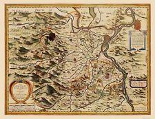 Old France Map - Principality of Orange - Jansson 1630 - 23 x 29.94
