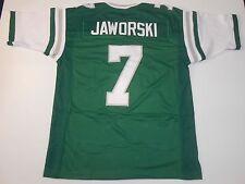 UNSIGNED CUSTOM Sewn Stitched Ron Jaworski Green Jersey - M, L, XL, 2XL