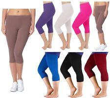 Women 3/4 Yoga Workout Leggings Fitness Sports Gym Running Athletic Leggings