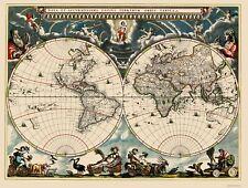 Old World Map - Blaeu 1662 - 23 x 30.41