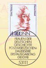 BRD 1998: Gret Palucca nº 2014 con el bonner primero etiquetas sello especial ETB-a 1605
