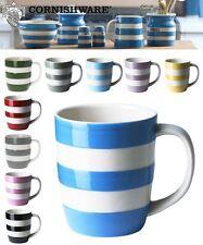 Cornishware Blue & White Stripe Set of 2 or 4 Coffee Cups Mugs, 12oz