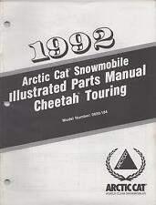 1992 ARCTIC CAT CHEETAH TOURING SNOWMOBILE PARTS  MANUAL P/N 2254-745