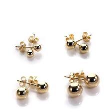 9ct Gold Plain Ball Stud Earrings 3mm - 6mm