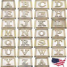 Men Women Belt Buckles Initial Letter USA American Alphabet Monogram Western New