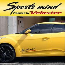 Sports mind produced by Veloster #2 Hyundai Car Decal Sticker Vinyl I