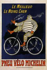 Michelin Tires Pneus Riding Bicycle Bike Smoking Vintage Poster Repro FREE S/H