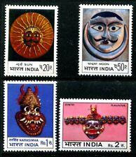 India 602-605, MNH, Art Masks: Sun Moon Narasimha Ravana. 1974 x10133