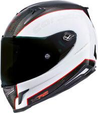 Nexx XR2 Carbono Blanco-Rojo Ligero Motocicleta Moto Casco