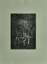 MARCELLO TOMMASI incisione acquaforte 1975 DON CHISCIOTTE 4 70x50 firmata