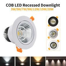 3W 5W 7W 9W 12W 15W 20W COB LED Recessed Ceiling Downlight Spot Light Bulb Kits
