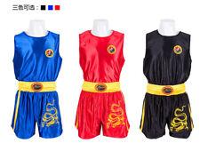 Chinese Kung Fu Wu shu Martial Arts Tai chi Sanda Uniform Shorts Clothes Suit