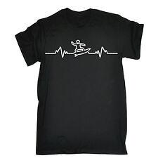 SURF Heart Beat PULSE T-shirt tavola da surf accessorio TEE Surfer Natale Divertente