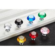 1pcs Diamond Crystal Cabinet Knob Drawer Dresser Door Cupboard Drop Pull Handle