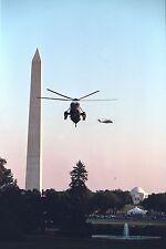 President George W. Bush arrives on Marine One at White House 9-11 Photo Print