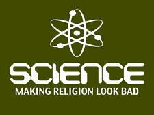 SCIENCE T-SHIRT Religion ATHIEST Black Metal DARWIN Anti Religion Mens T-SHIRT