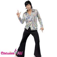 Mens 1960s 70s Hippie Costume Disco Dancer Man Adult 60s Hippy Retro Fancy Dress
