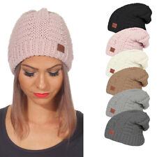 Damen Mütze Beanie Strickmütze Wintermütze Warme Mütze Pudelmütze Winter Cap 13