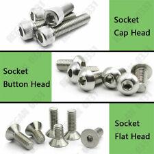 2#-56 4#-40 Socket Cap Head Hex Button Head Hex Flat head Screws Bolts 304SS-A2