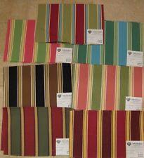 Pindler Dione Corded Multi Color Stripe 9097 Designer Fabric Sample Pick Color