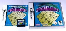Gioco: SUDOKU sudokumaniacs PER NINTENDO DS LITE + + + DSi XL + 3ds 2ds